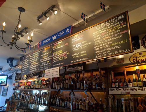 Valhalla Bar - Tap list