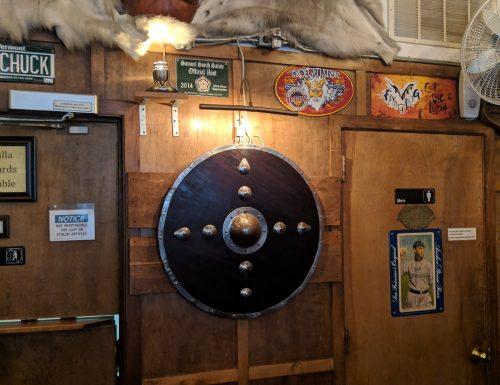 Valhalla Bar - large wooden viking shield